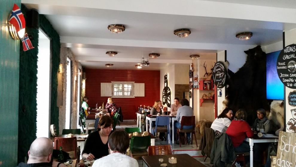 So stilvoll ist das Smorgas Nordisk Restaurant eingerichtet.