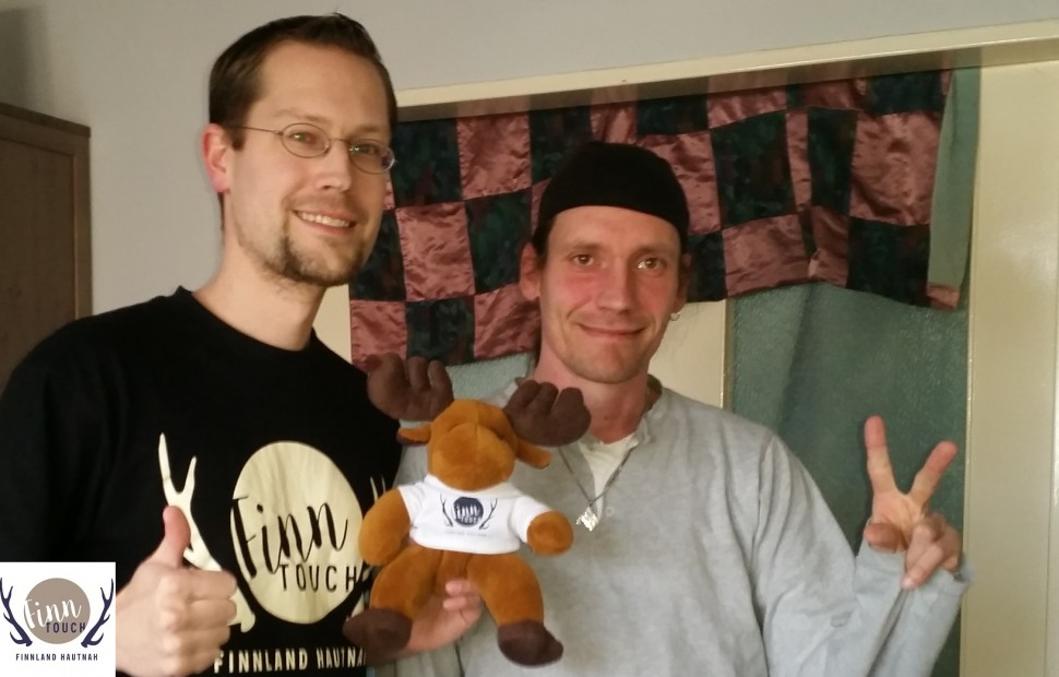 Daniel, René und Hannu-Pekka war beim Treffen natürlich auch mit dabei.