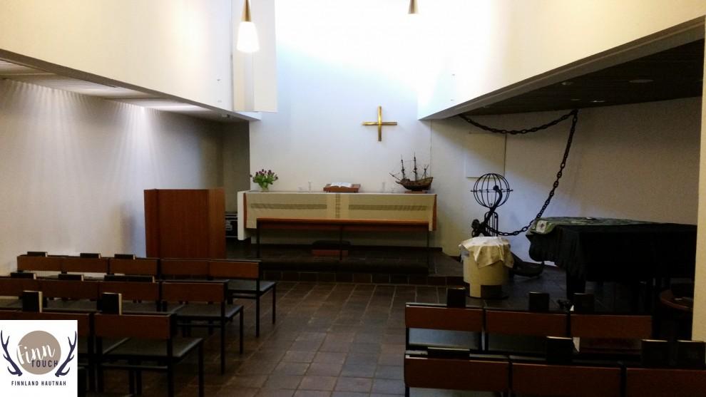 Hier finden die regelmäßigen Gottesdienste der evangelisch-lutherischen Gemeinde statt.