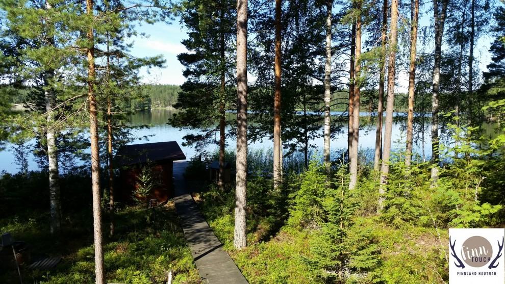 Am meisten Spaß macht die finnische Sauna, wenn ein kühler See gleich in Sichtweite ist.
