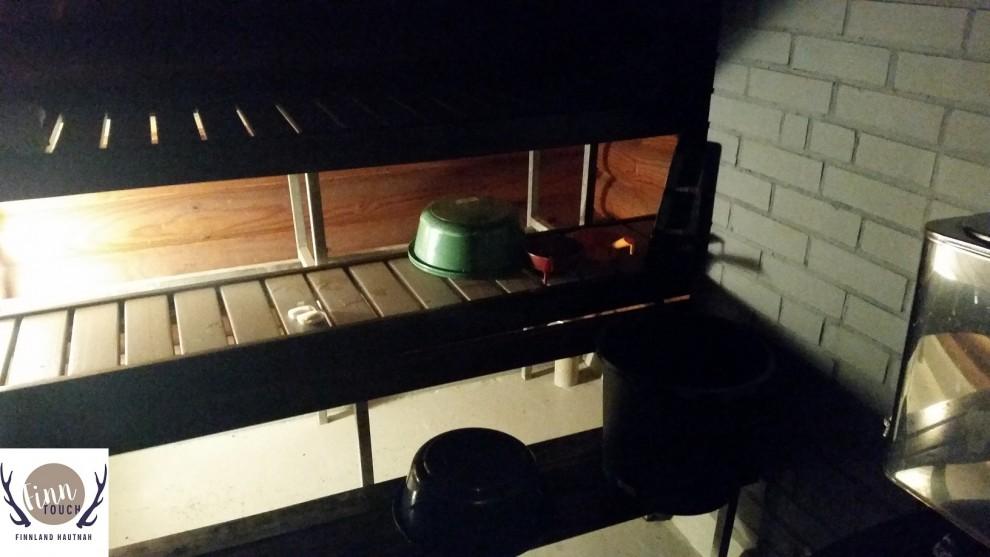 Auch abends kann es in der Sauna sehr gemütlich sein.