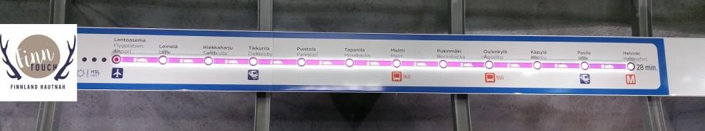 In nur 28 Minuten bequem vom Flughafen ins Zentrum von Helsinki mit dem P-Zug.