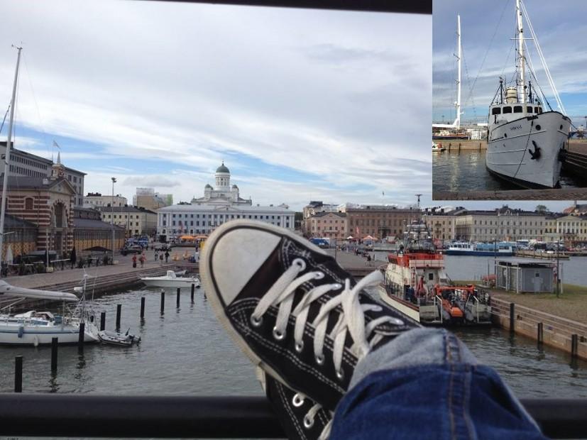 Eine geniale Aussicht auf Hafen und Dom genießt Du vom alten Segler Nikolai II aus.
