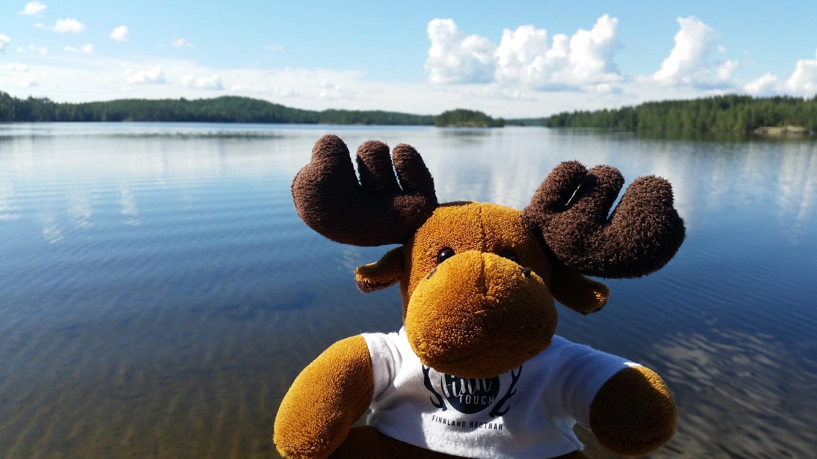Der niedliche Elch Hannu-Pekka ist ein echter Hingucker und eine tolle Geschenkidee.
