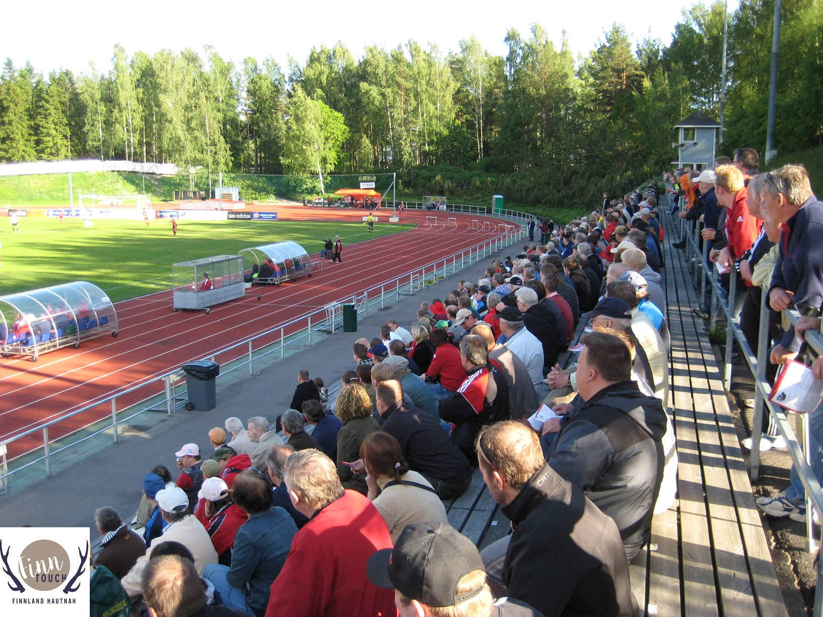Auch beim Fußball geht es in Finnland meist eher ruhig und beschaulich zu. Hier ein
