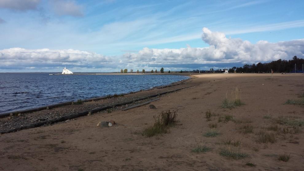 Am Strand von Nallikari.