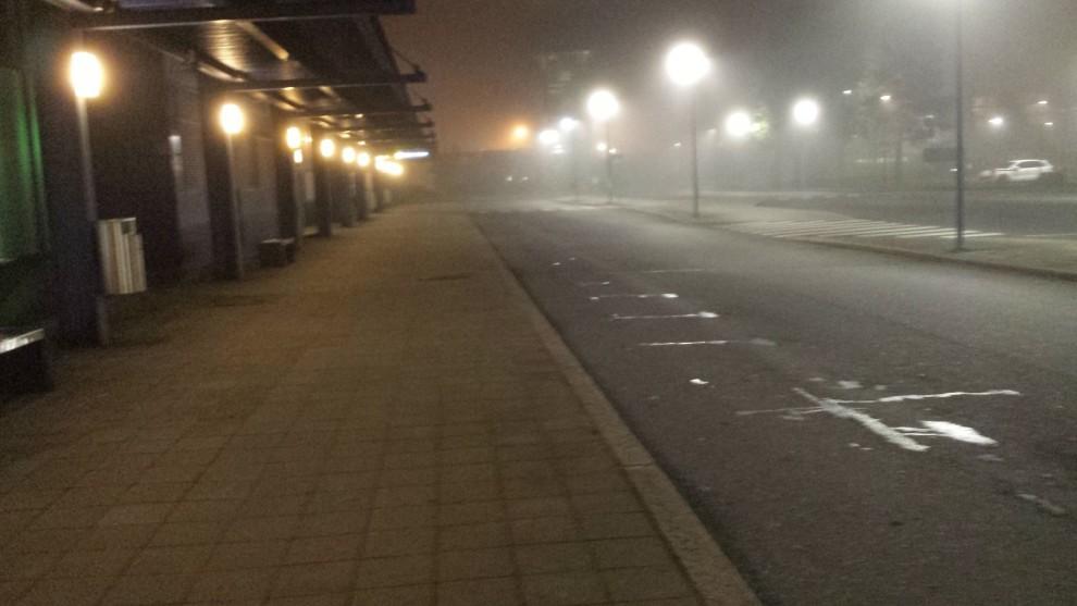 Bei der Ankunft zeigte sich das Wetter in der Stadt eher von seiner ungemütlichen Seite.