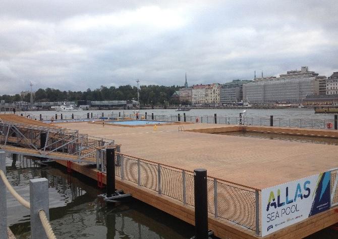 Der Allas Sea Pool - Helsinkis neue Attraktion direkt am Hafen.