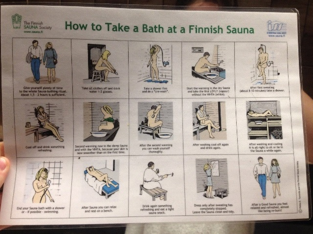 Mit den Saunaregeln nehmen es die Finnen üblicherweise nicht ganz so genau...