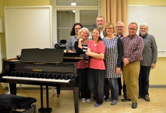 Der finnische Chor bei den Proben.