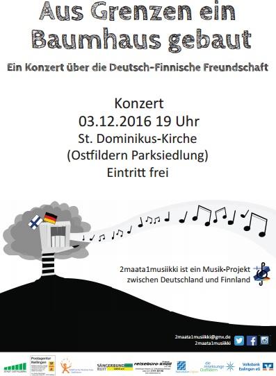 Das offizielle Konzertplakat.