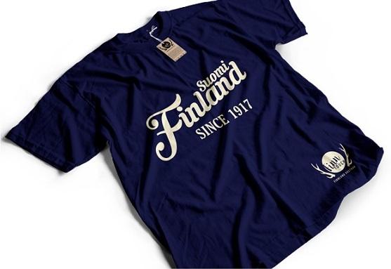 Das klassische T-Shirt gibt es nicht nur in navy, sondern auch in blau oder weiß - genauso auch als Girlieshirt oder Hoodie.