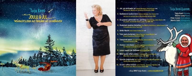 Auf der Weihnachts-CD finden sich nicht nur finnische und skandinavische Weihnachtslieder, sondern auch ein paar deutsche Klassiker.