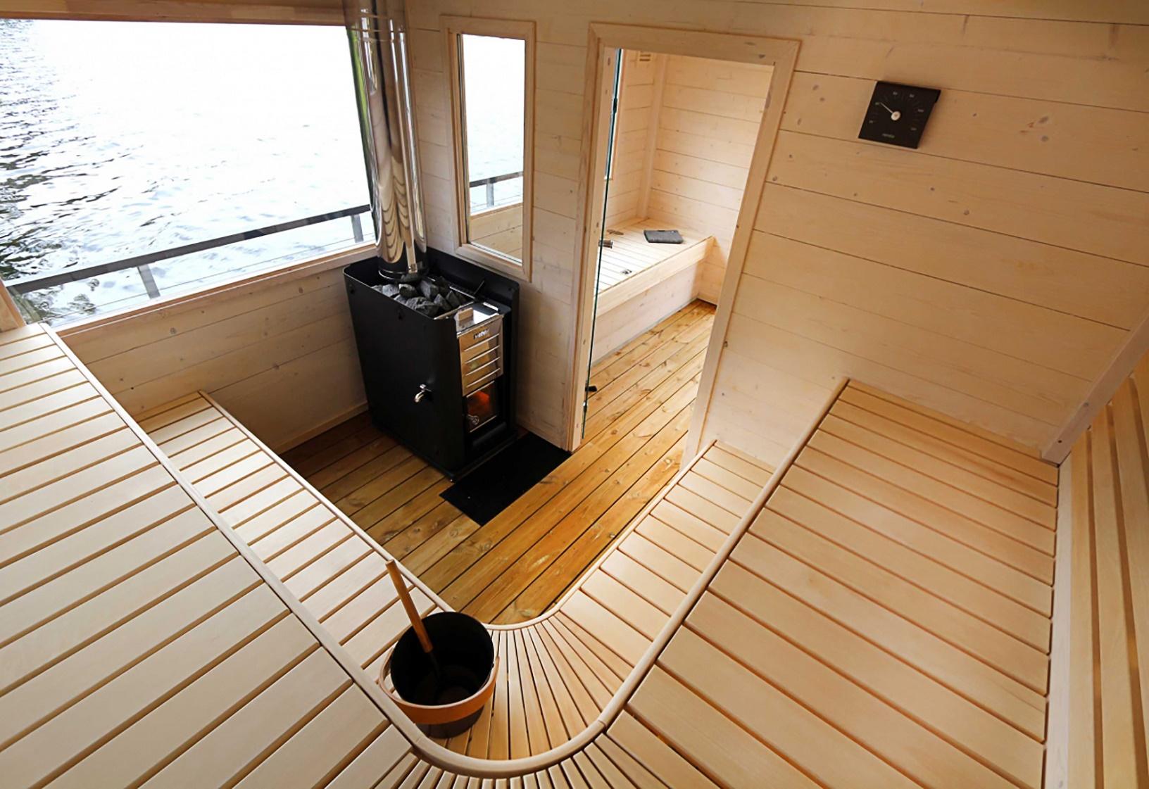"""Sauna """"with a view"""" - so wird an Bord des Finnfloat Saunafloßes hoffentlich schon bald geschwitzt."""