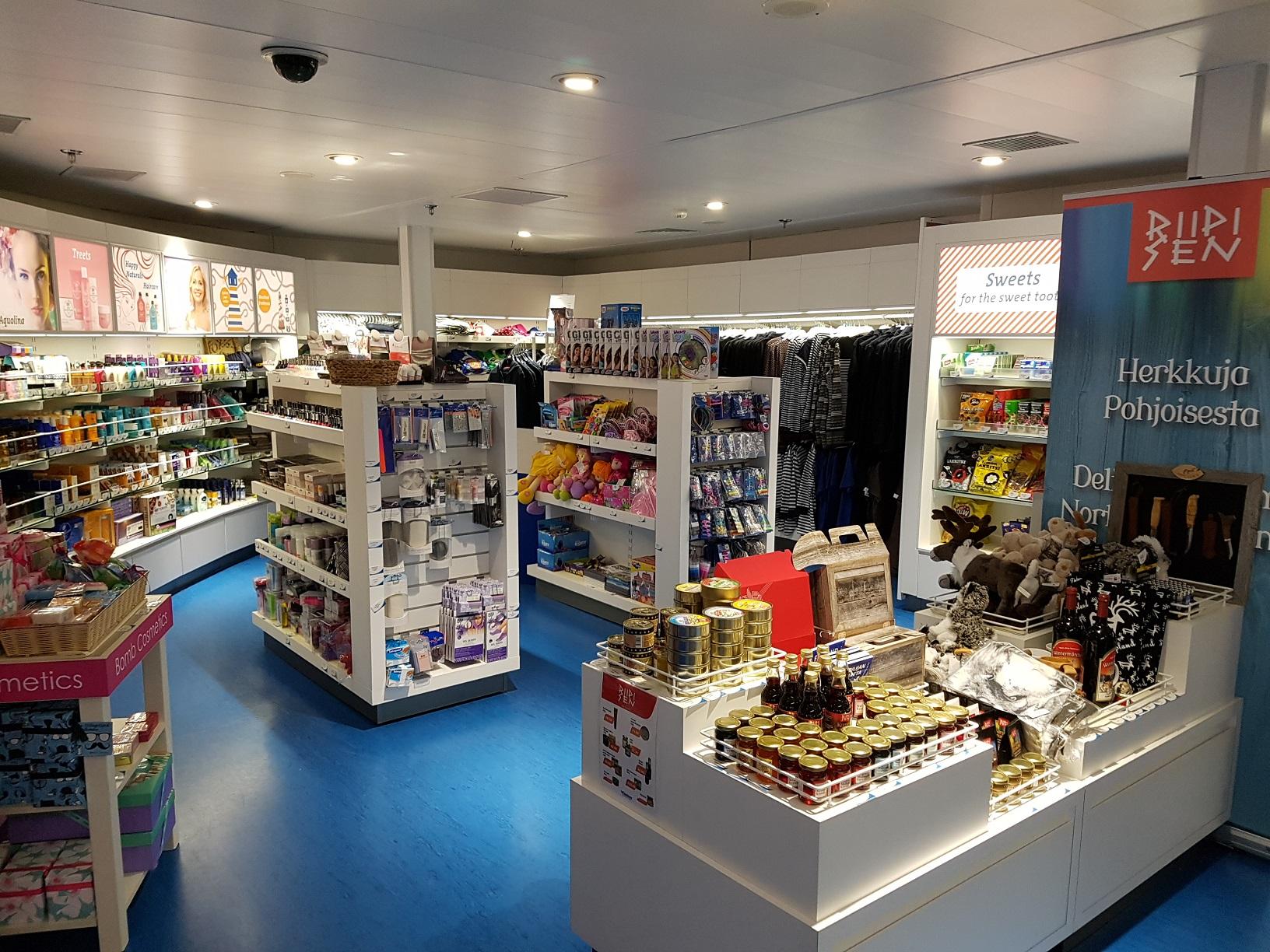 Shoppingparadies an Bord: Der Sailor's Shop.
