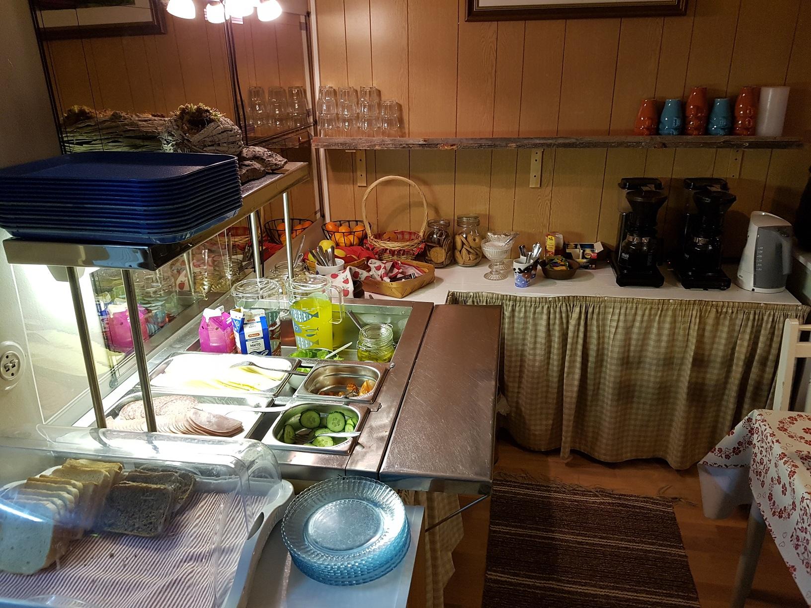 Frühstück im Guesthouse Borealis