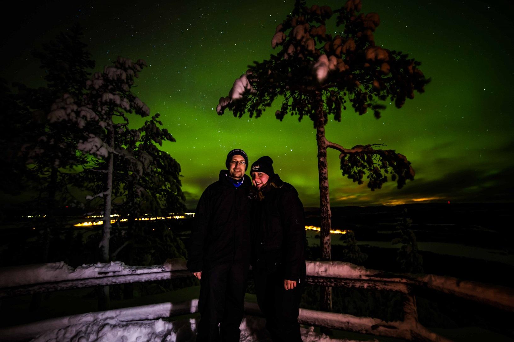 Nordlicht in Lappland