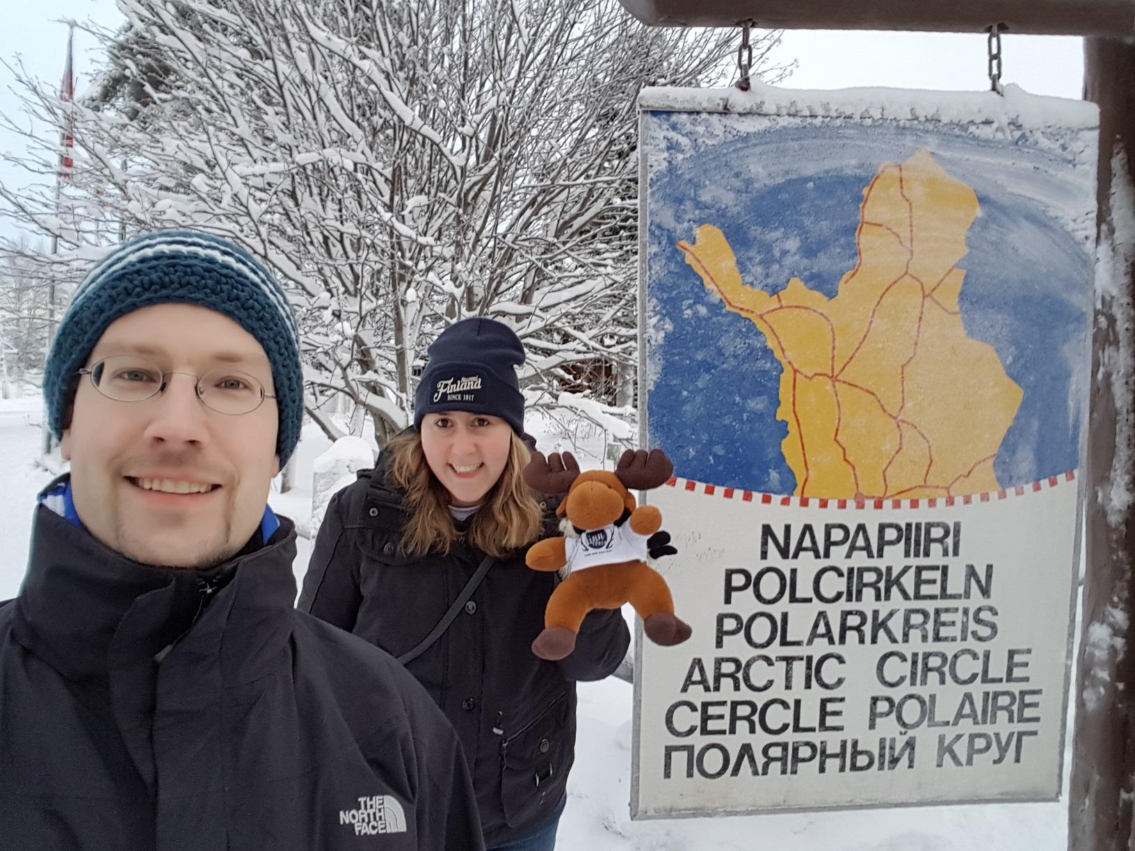 Schild Polarkreis