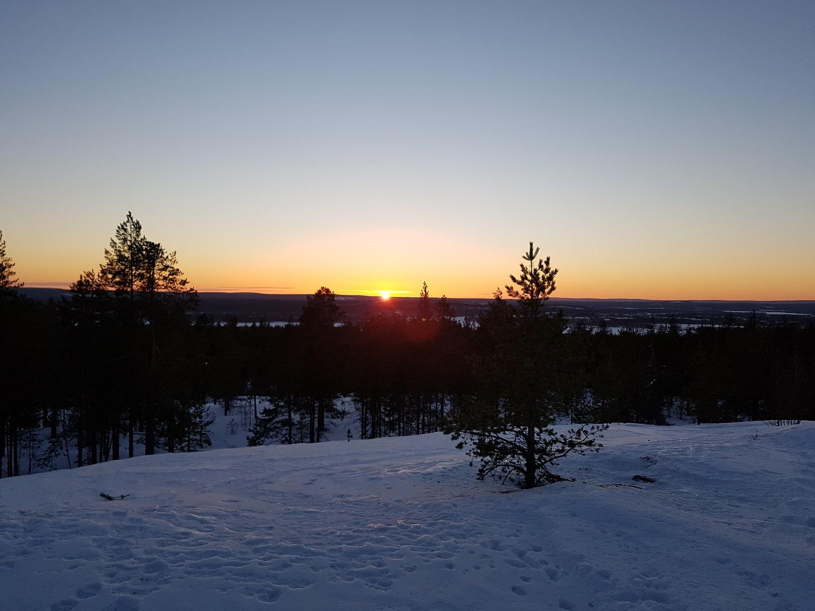 Ounasvaara Sonnenuntergang