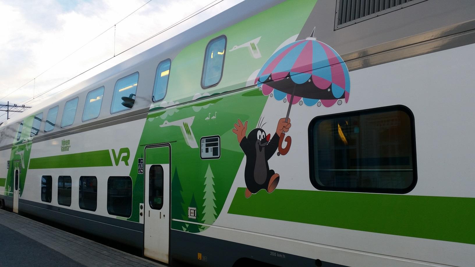 Zug der finnischen Bahn VR