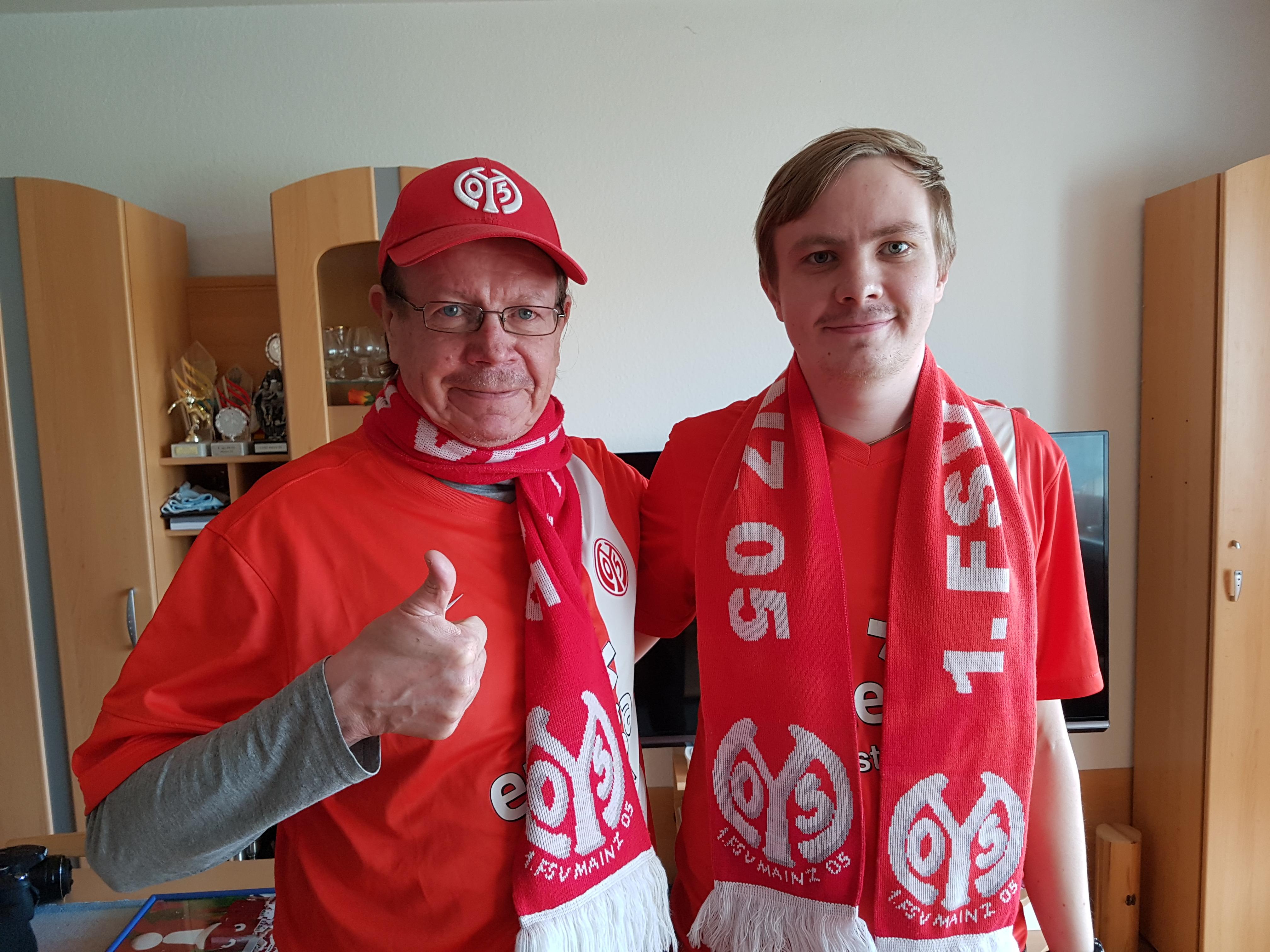 Markku und Waltteri Virtanen vom Fan-Club-Finnland Mainz 05