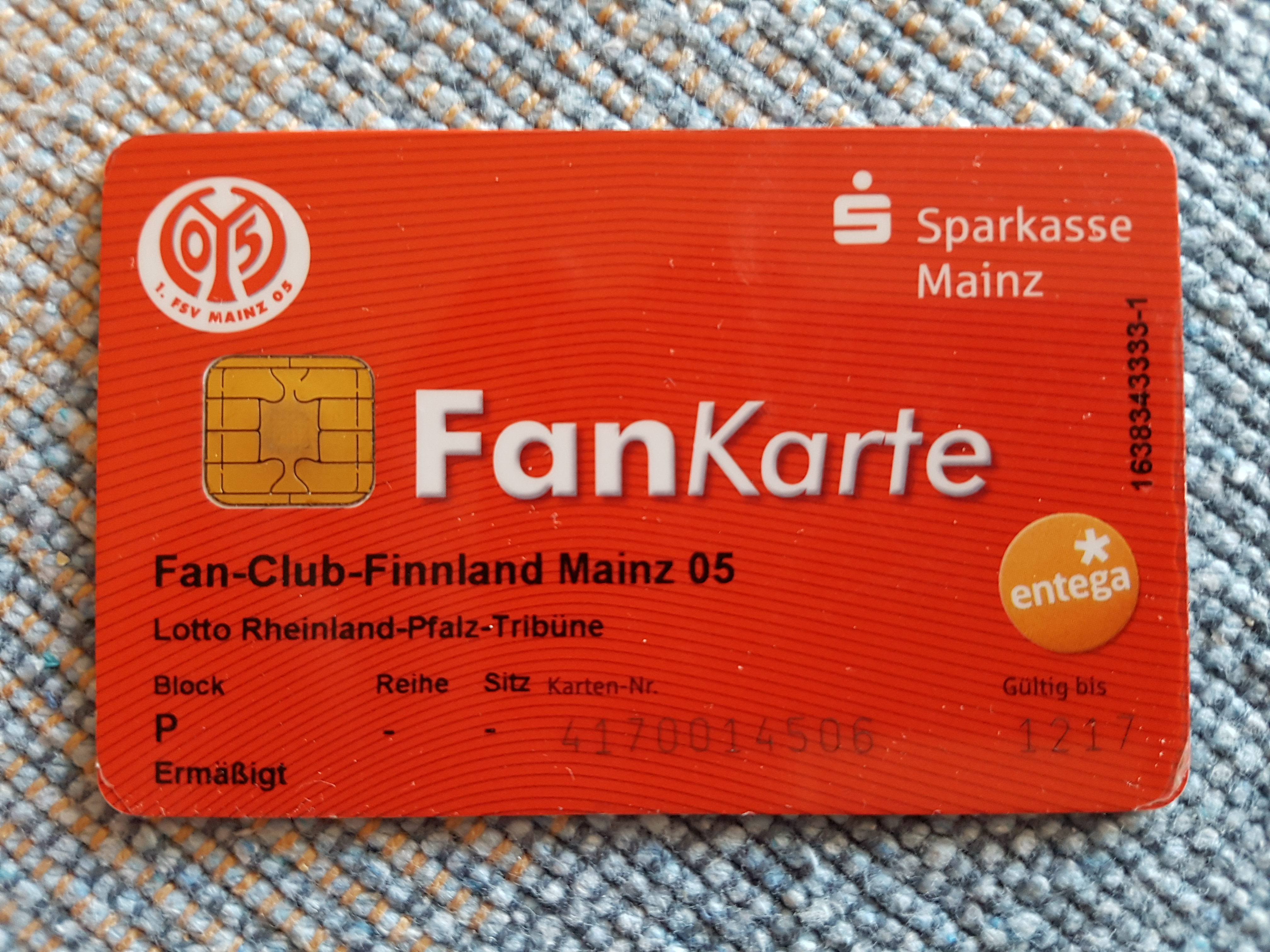Die FanKarte des Fan-Club-Finnland Mainz 05