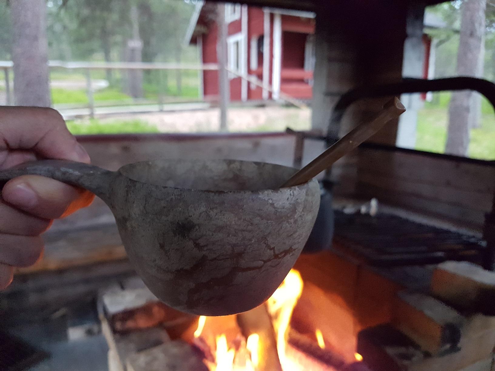 Feuerstelle in Lappland