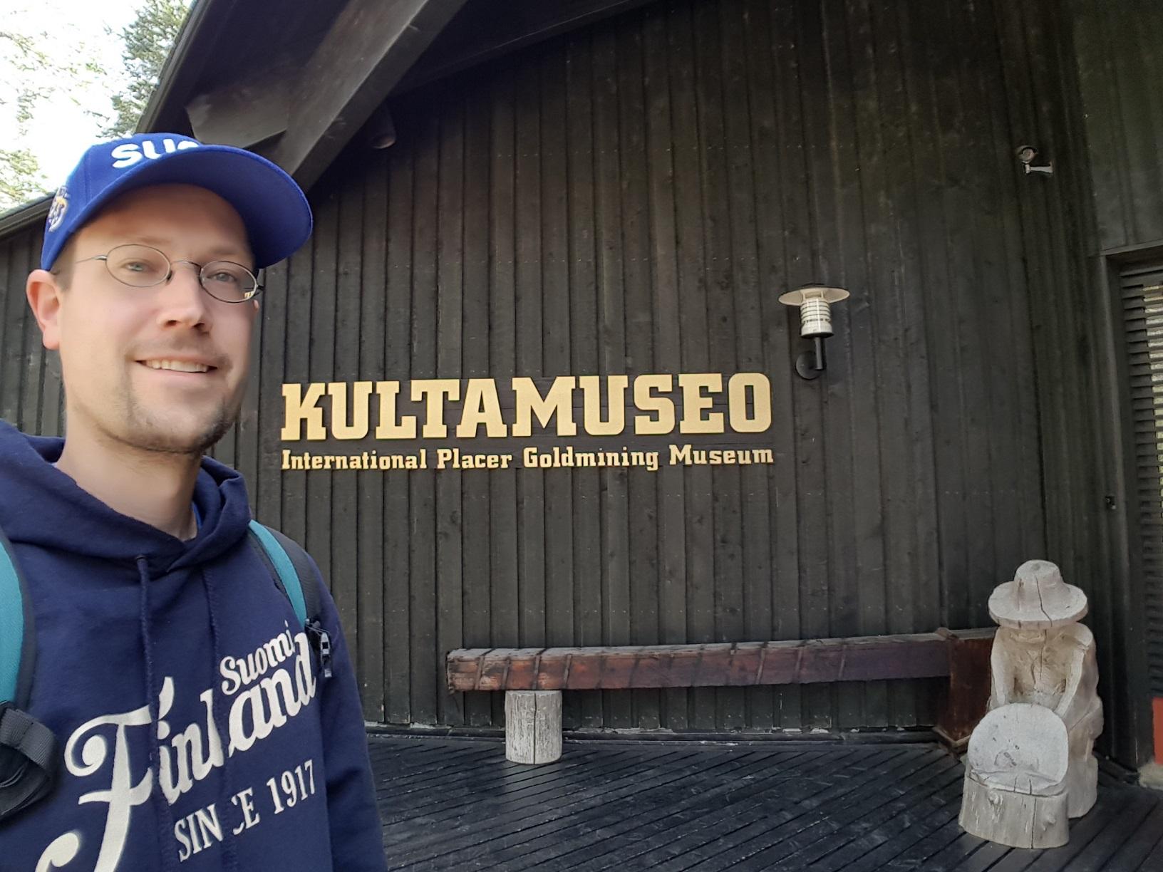 Tankavaara Goldmuseum Eingang