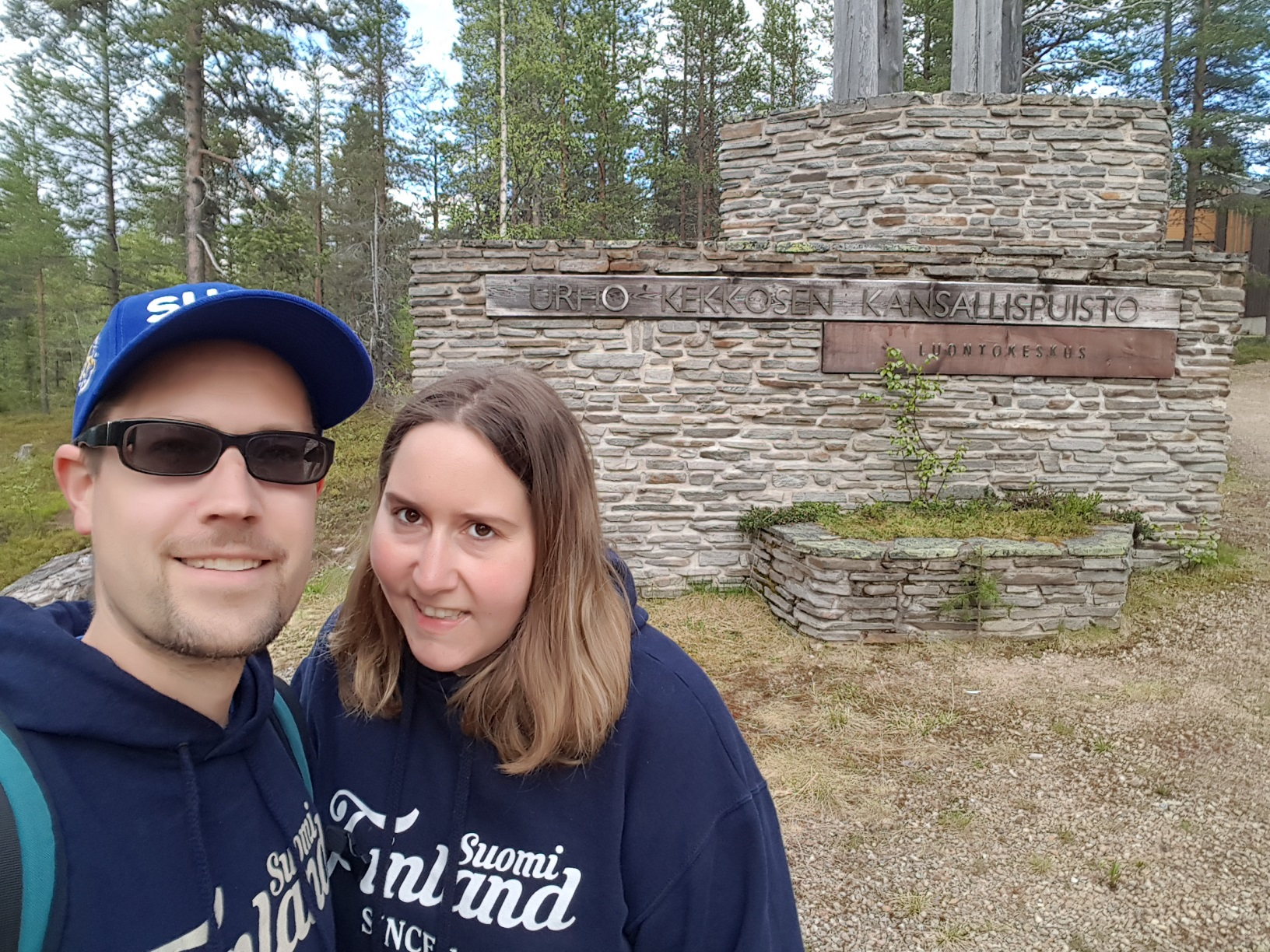 Eingang Urho-Kekkonen-Nationalpark
