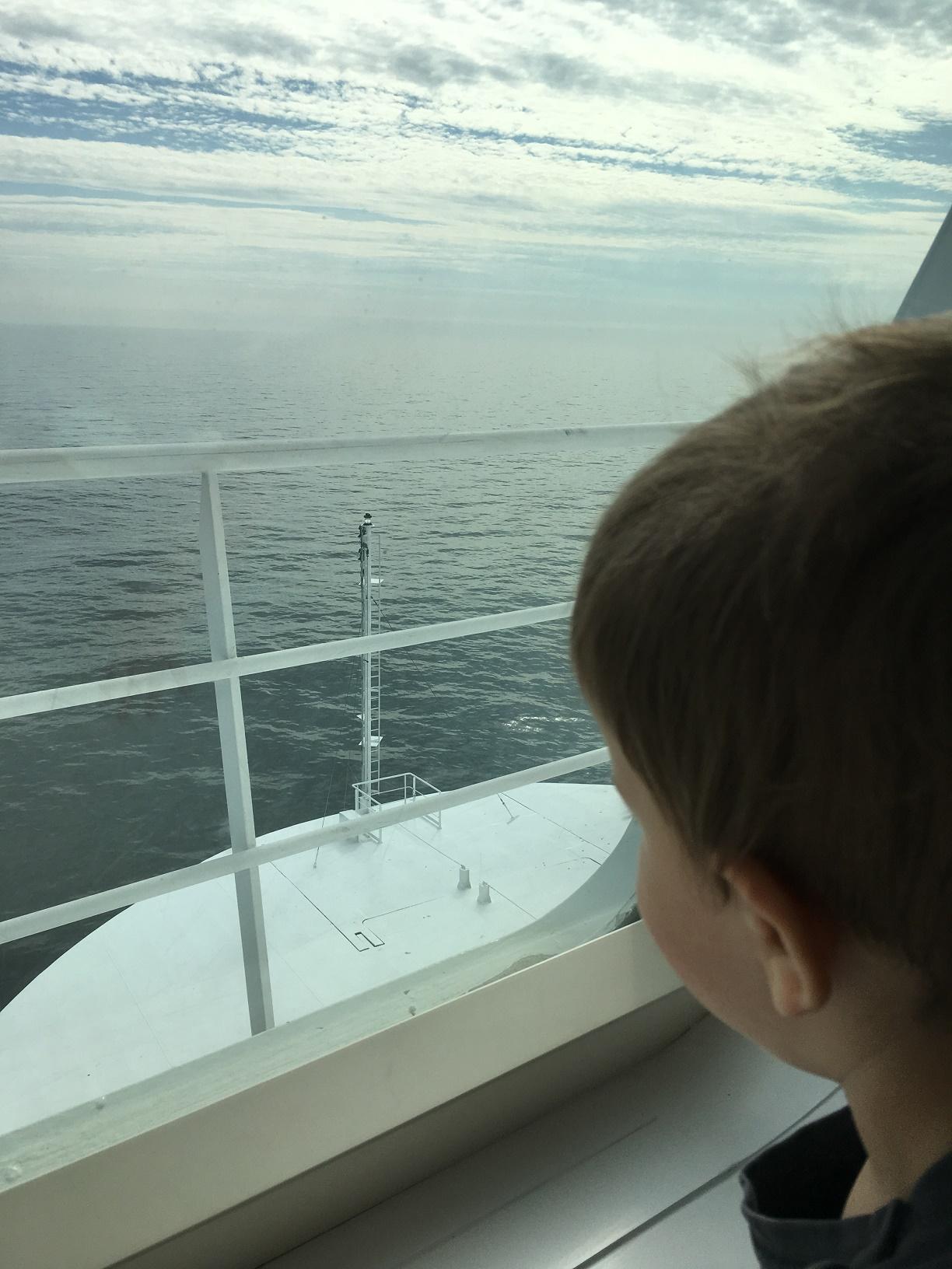 Kind auf Finnlines Schiff