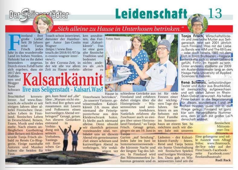"Artikel in ""Der Seligenstädter"", Seligenstadt (29.06.2020)"
