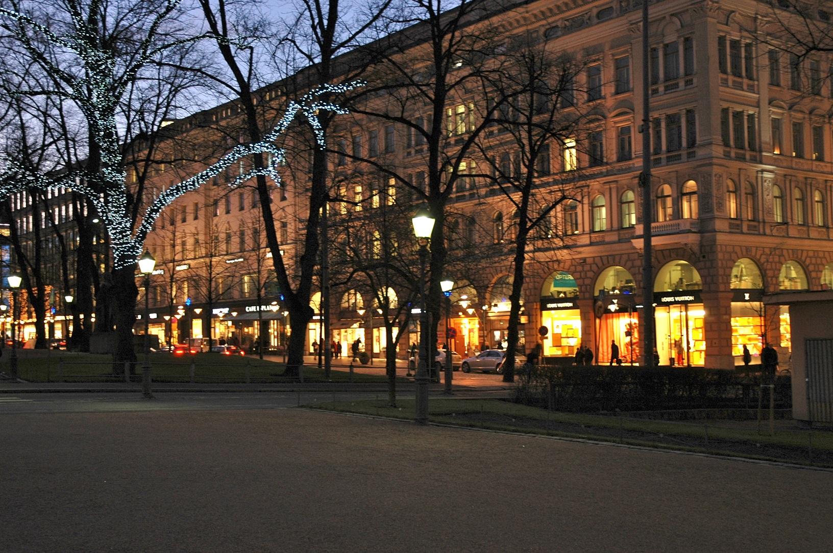 Winterliche Esplanadi Helsinki