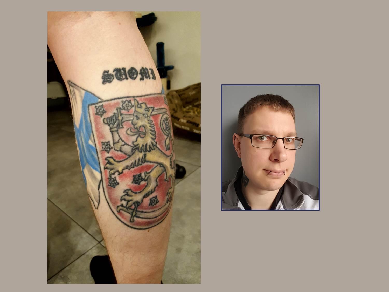 Flaggen und Wappen Tattoo Finnland