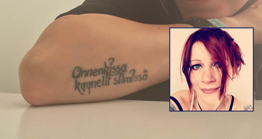 Tattoo finnischer Spruch