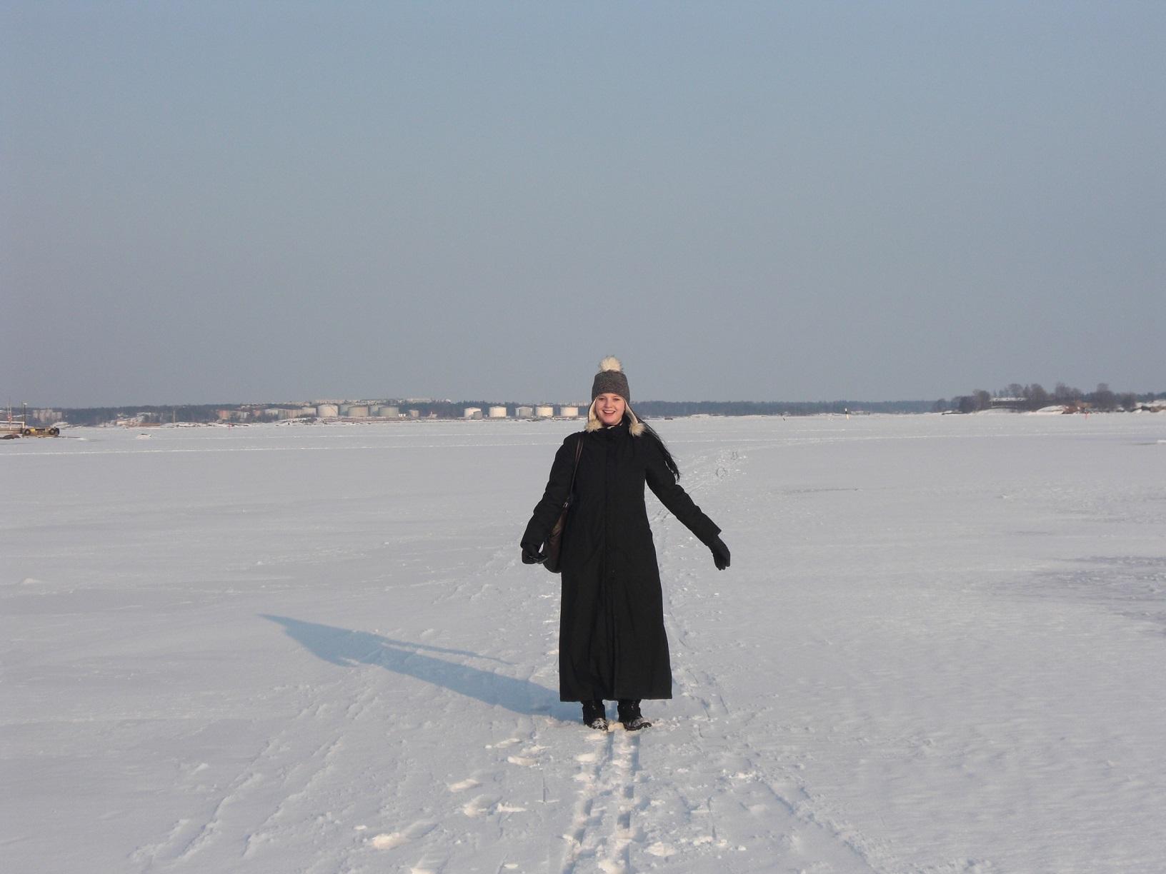 Zugefrorene Ostsee Helsinki