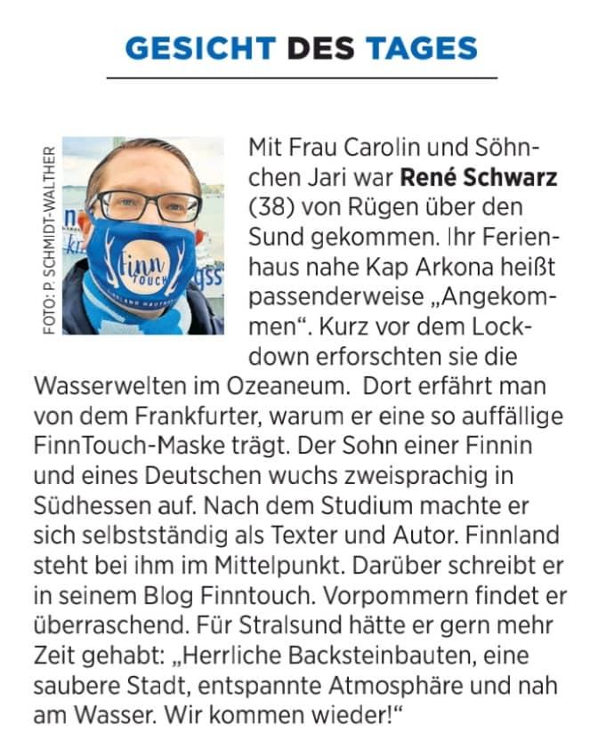 Gesicht des Tages in der Ostsee-Zeitung (09.11.2020)