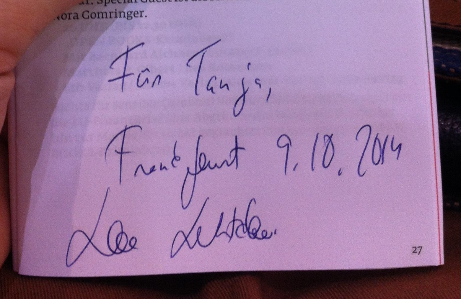 Leena Lehtolainen Autogramm