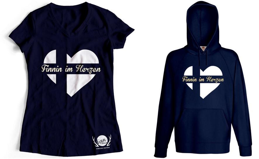 Finnland T-Shirt Finnin im Herzen