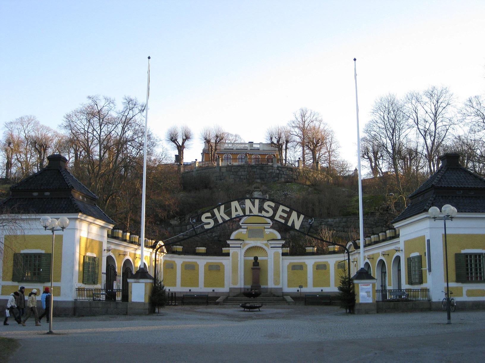 Skansen Eingang Stockholm