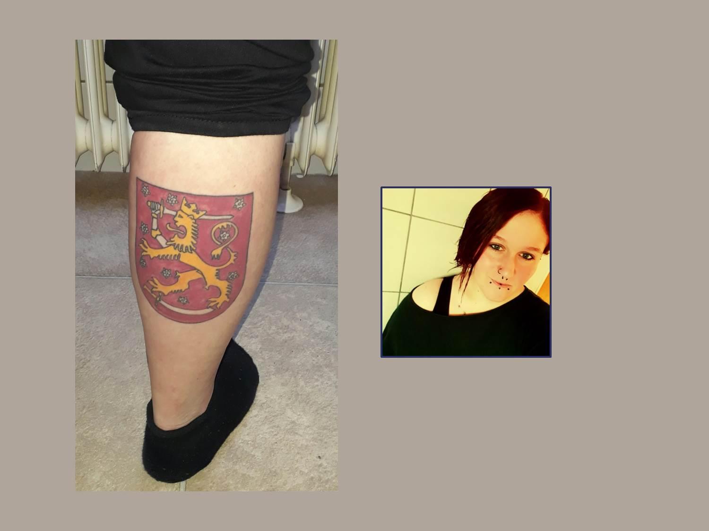 Finnland Wappen Tattoo
