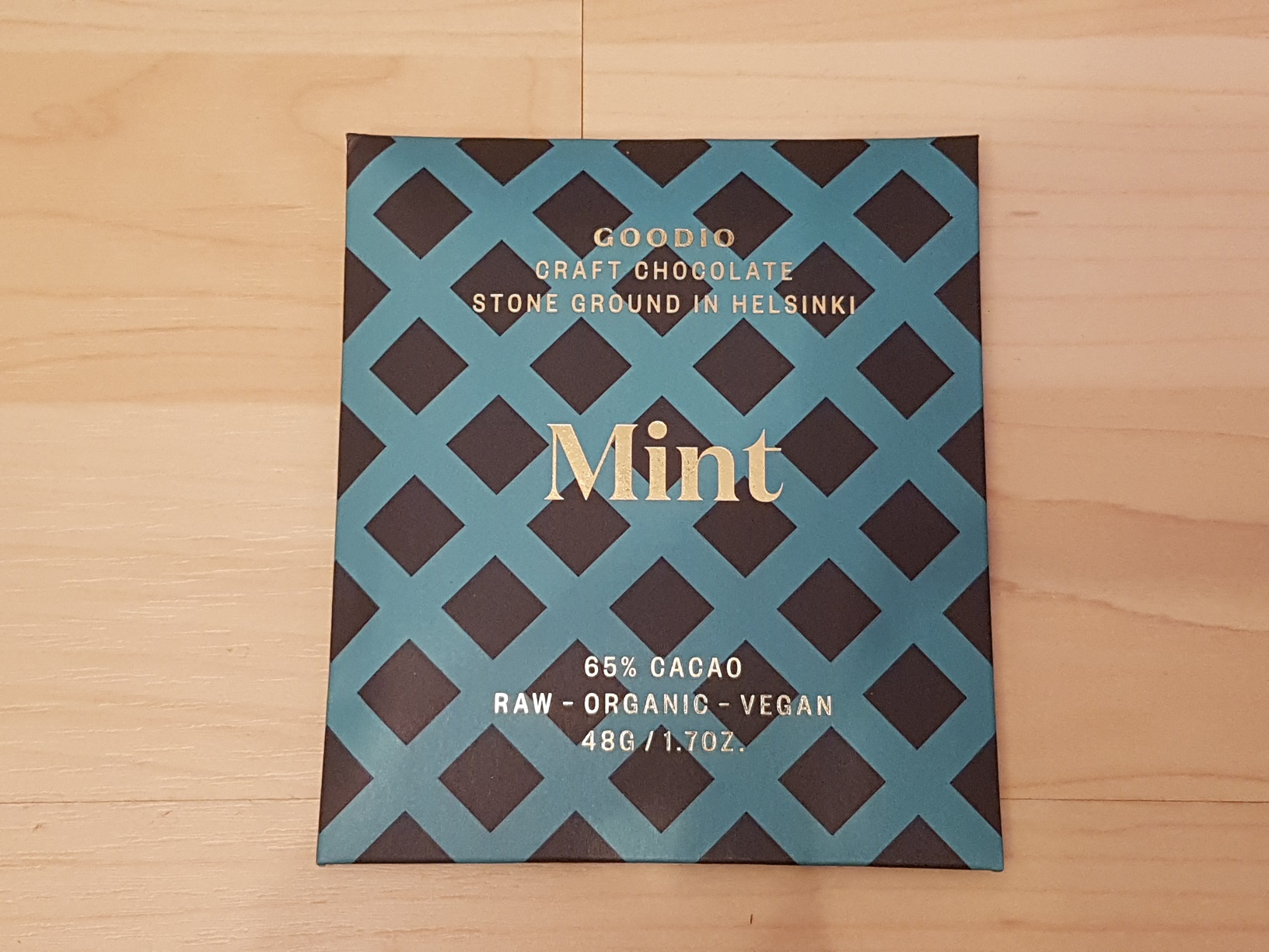 Finnische Goodio Schokolade Mint