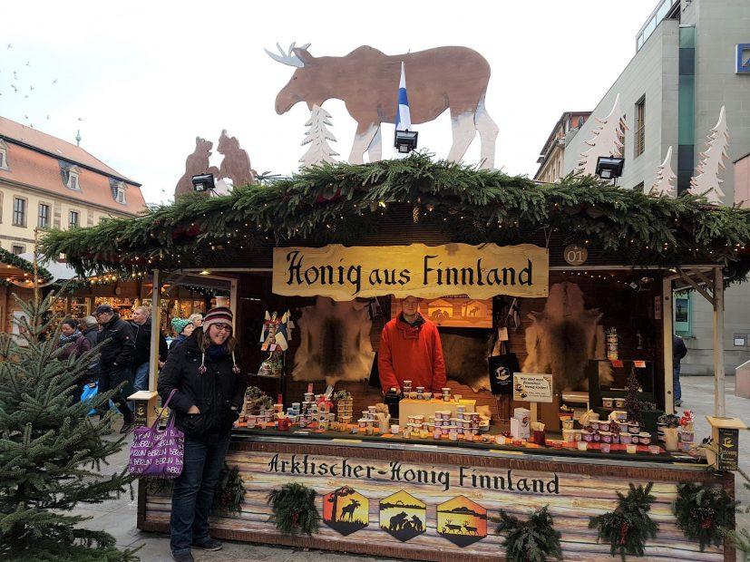 Arktischer-Honig Finnland Marktstand in Fulda