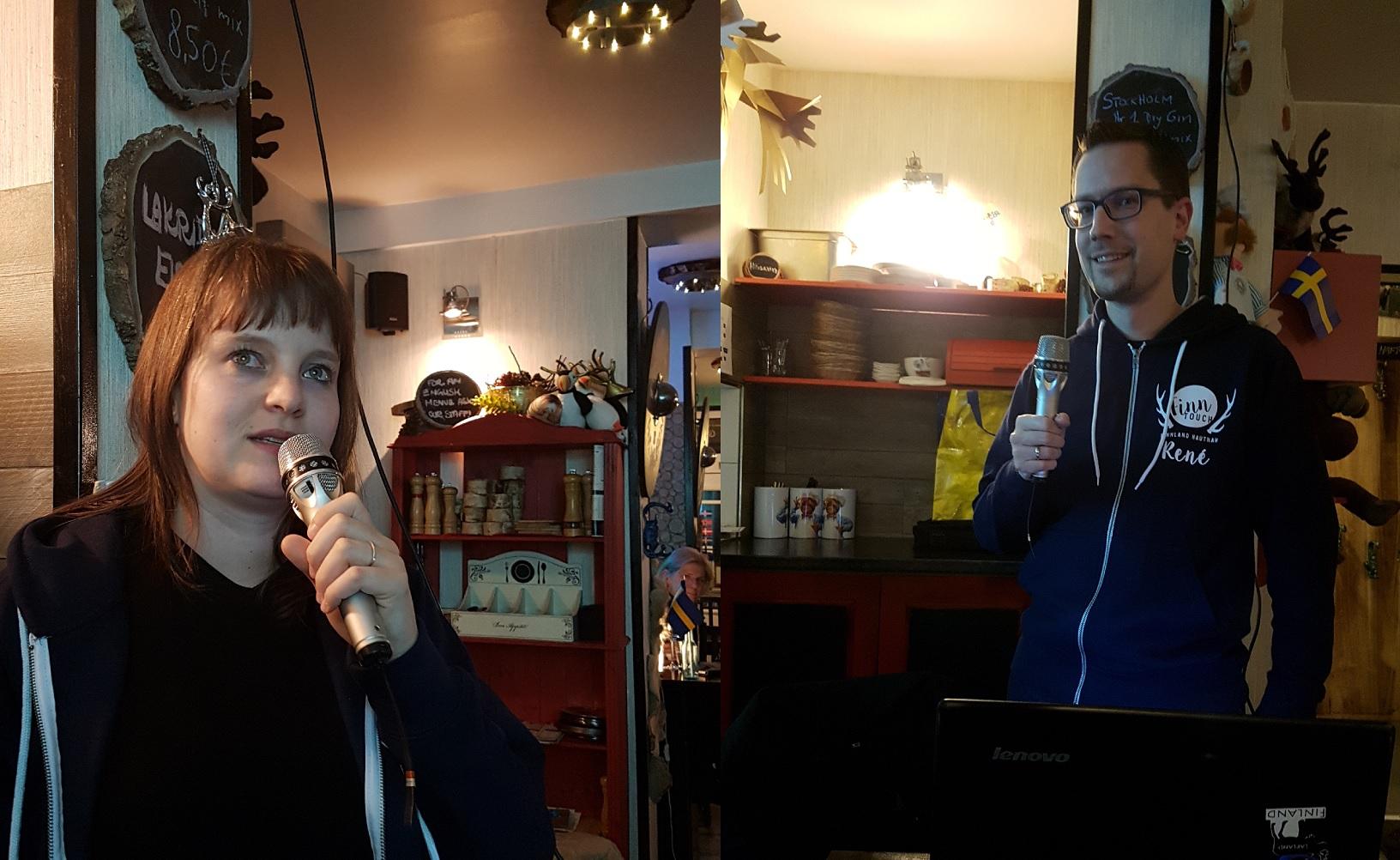 Tanja und René, die Speaker des Schweden-Dinners