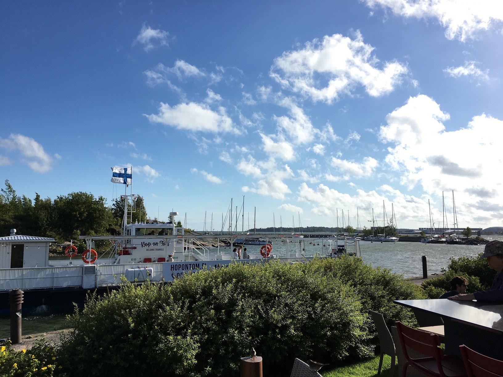 Blick vom Cafe Carusel auf das Meer