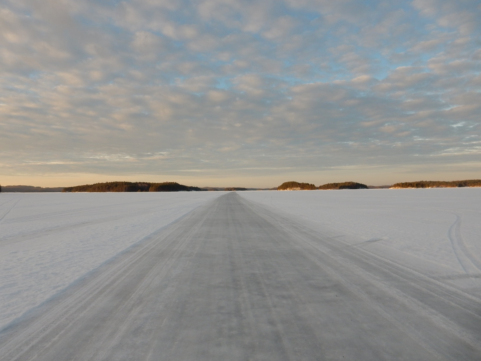 Eisstraße bei Heinävesi