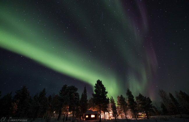 Finnland im Winter - Nordlichter über Inari