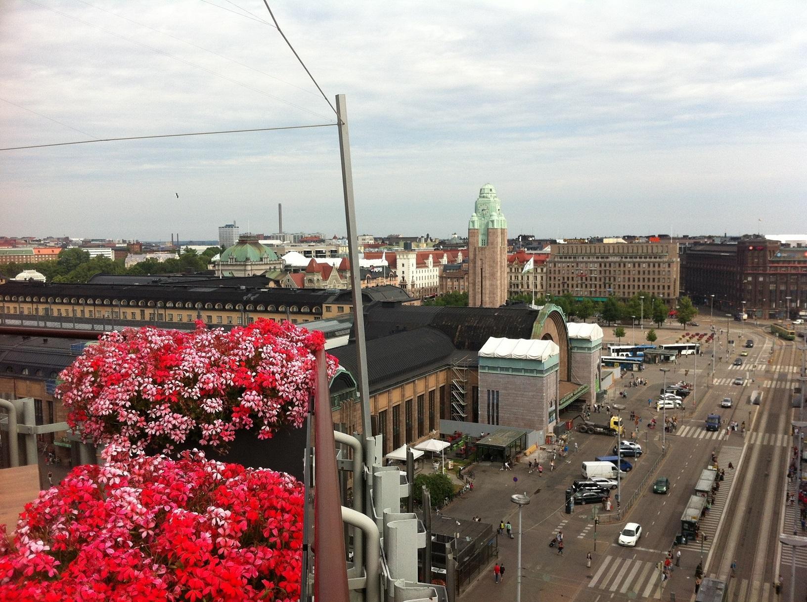 Blick auf den Helsinki Hauptbahnhof