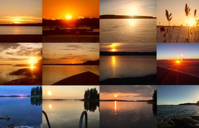 12 atemberaubende Sonnenuntergänge in Finnland