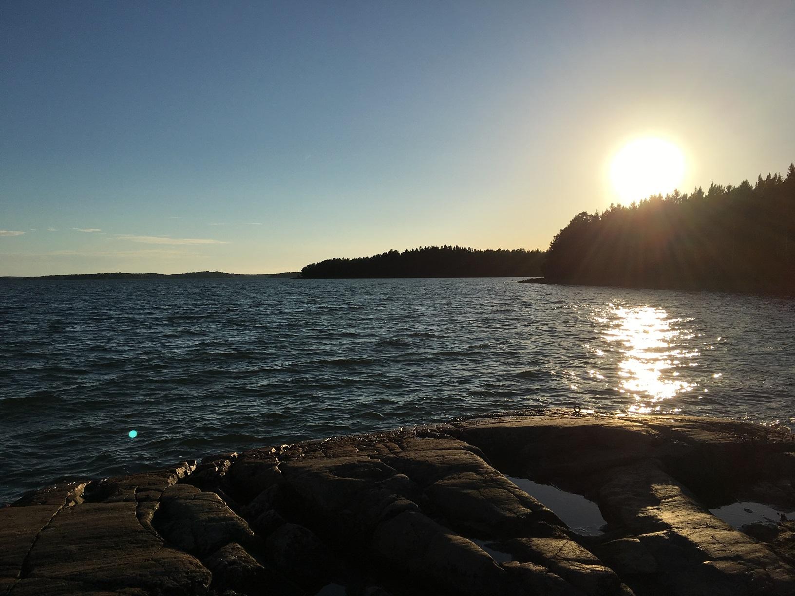 Sonnenuntergang auf der Insel Kimitoön