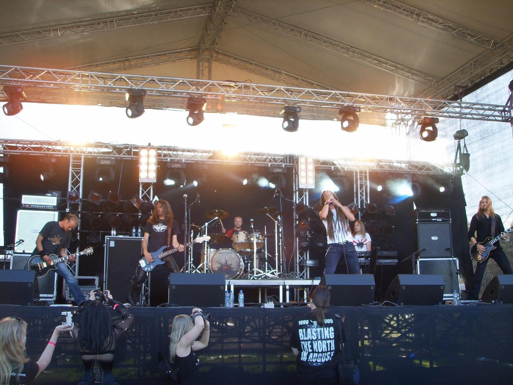 Amorphis live beim Myötätuuli Festival 2006